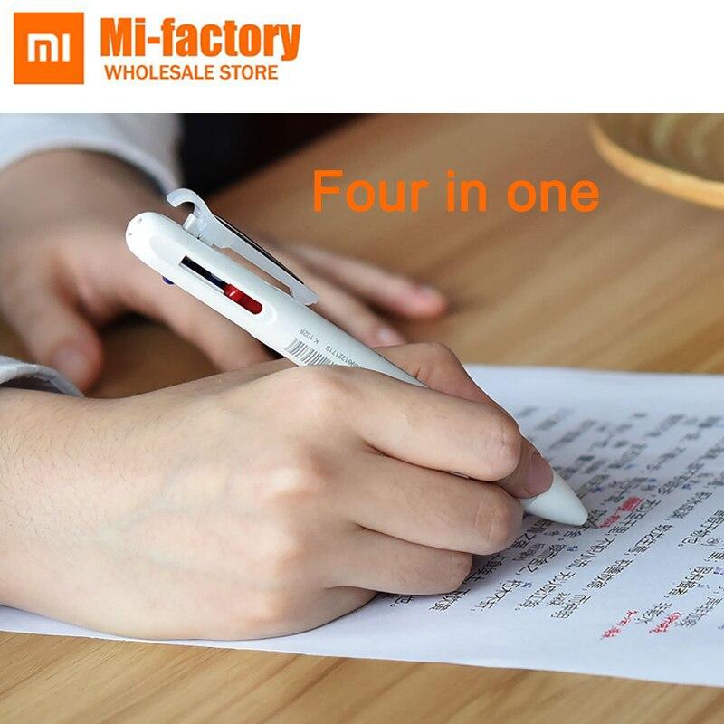 Le plus récent stylo multifonction Xiao mi jia MOULDE 4 en 1 mi jia stylo signature stylo gel crayon pour étudiant et bureau
