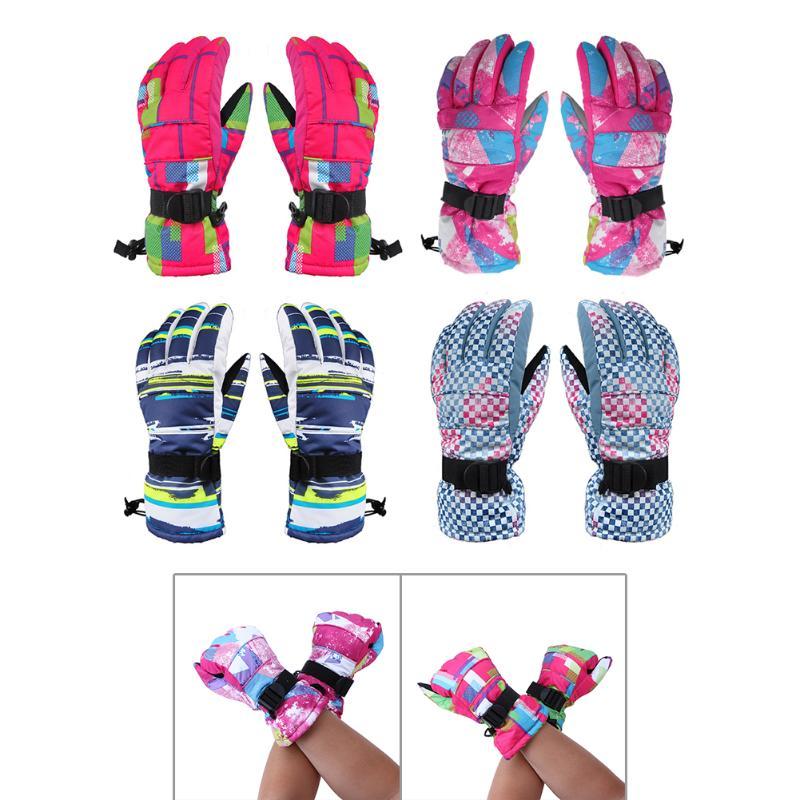 Women Ski gloves Windproof Waterproof Warm Cycling Ski Snow Snowmobile Motorcycle Snowboard Skiing Gloves Winter Outdoor