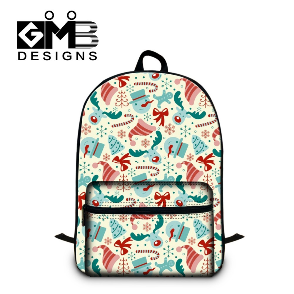 Cute Christmas Laptop Backpacks for girls Children's School bookbags backpacking for teenagers women's Day Pack for traveling