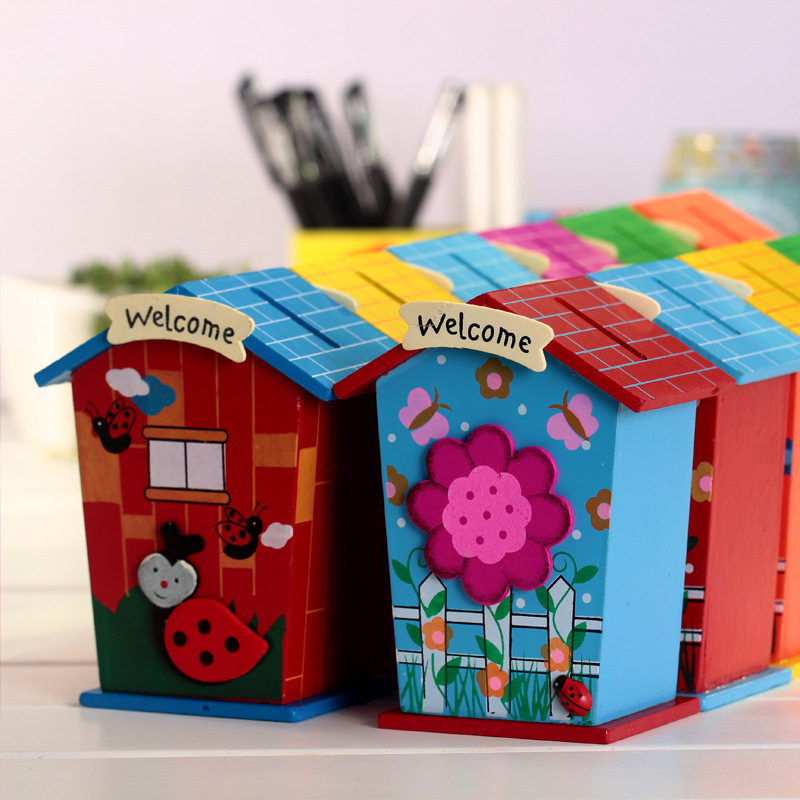 Cute House Shape Money Box Daily Piggy Bank Saving Pot