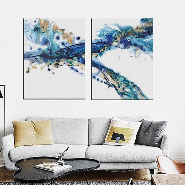 Decorazioni di natale per la casa quadri astratti blu for Decorazioni per pareti soggiorno