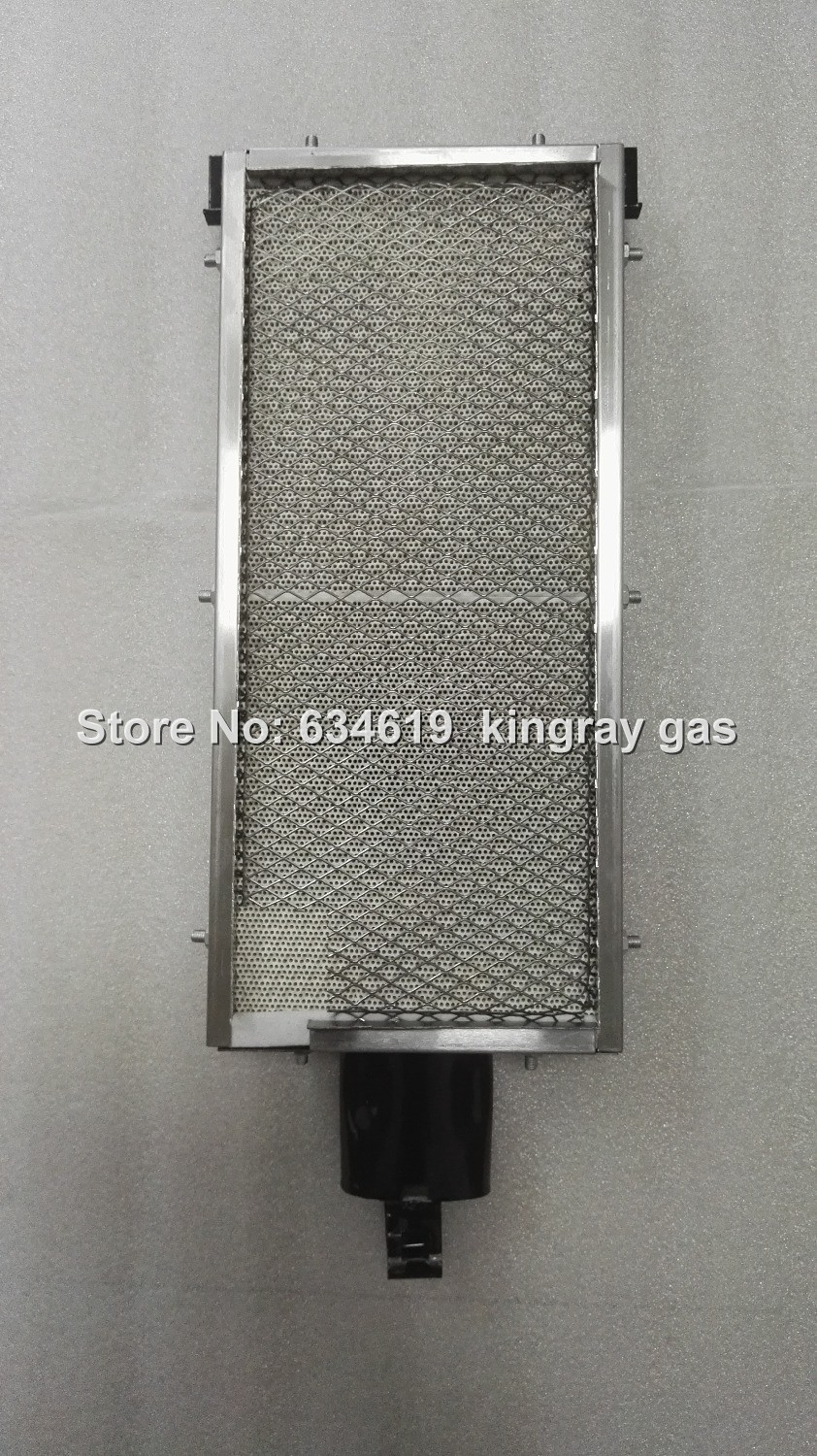 Factory supply gas infrare burner for bbq, quality gas burner for roast machine, stainless steel ceramic infrared burner