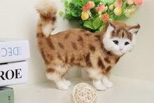Simulation cat polyethylene&furs cat model funny gift about 23cmx9cmx20cm