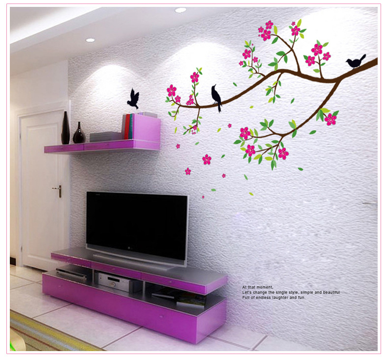 Beautiful Flowers Decoration Wall Stickers For Hall Bedroom TV Backdrop  Decorative Wall Wall Stickers Home Decor-in Wall Stickers from Home &  Garden on ...