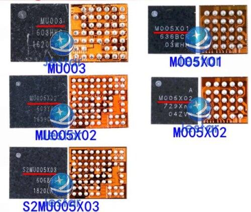3 шт. MU005X02 MU005X01 S2MU005X03 MU003 M005X02 микросхема питания для Samsung