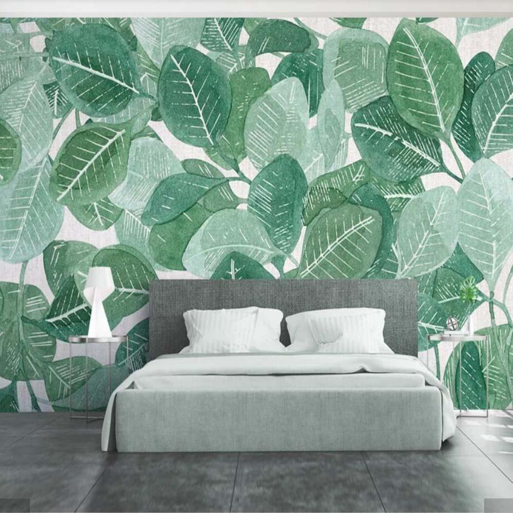 Gold/&Black Leaves Pattern Murals Modern Vintage Living Room Photo Wallpaper Roll