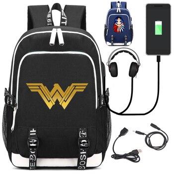 Zastanawiam się, kobieta plecak z portu USB do ładowania i interfejsem blokady i słuchawek dla studentów College pracy mężczyzn i kobiet