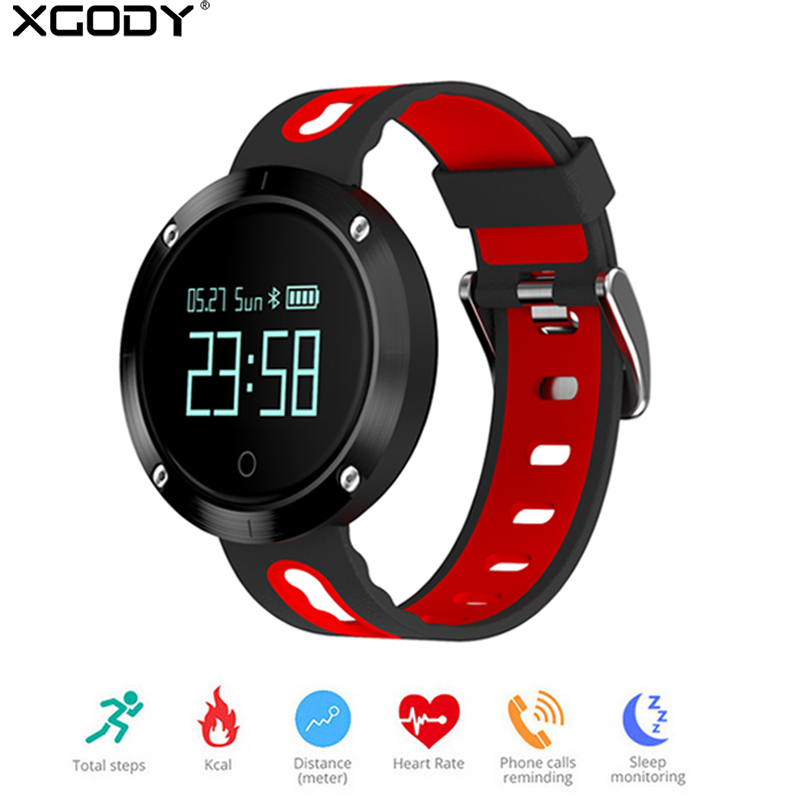 XGODY DM58 Fitness Watch Smart Watch Blood Pressure Heart Rate Monitor Waterproof IP68 Swimming Smartwatch for Iphone Android