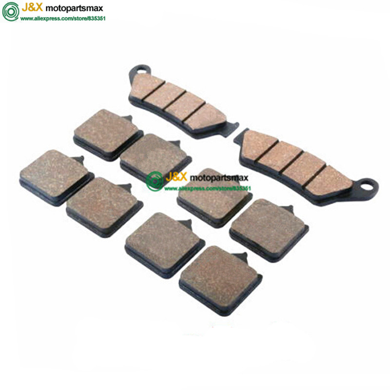10 PCS Semi-Metallic Front Rear Brake Pads For KTM SUPERMOTO 950 economic bicycle brake pads black 4 pcs