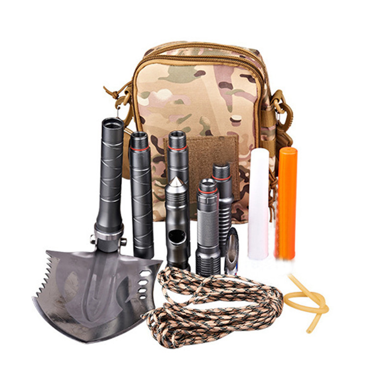 85cm Multi-function Camping Shovel Military Portable Folding Survival Spade Trowel Dibble Emergency Garden Outdoor Tools EI13 2 people portable parachute hammock outdoor survival camping hammocks garden leisure travel double hanging swing 2 6m 1 4m 3m 2m