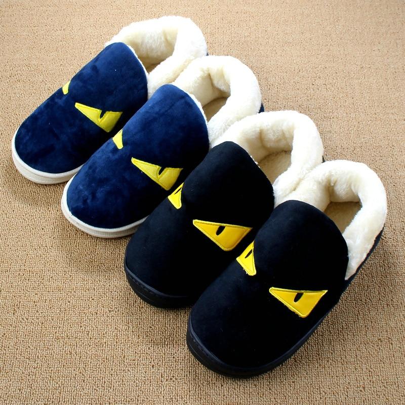 2016 Winter Slippers Men Women Cartoon House Slipper Animal Indoor home Flat Shoes Pantuflas Cotton padded