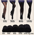 10D 50D 80D 120D Langsha Brand Women Elastic Skinny Pantyhose Comfortable Fashion Sexy Slim Tights Long Stockings 1277