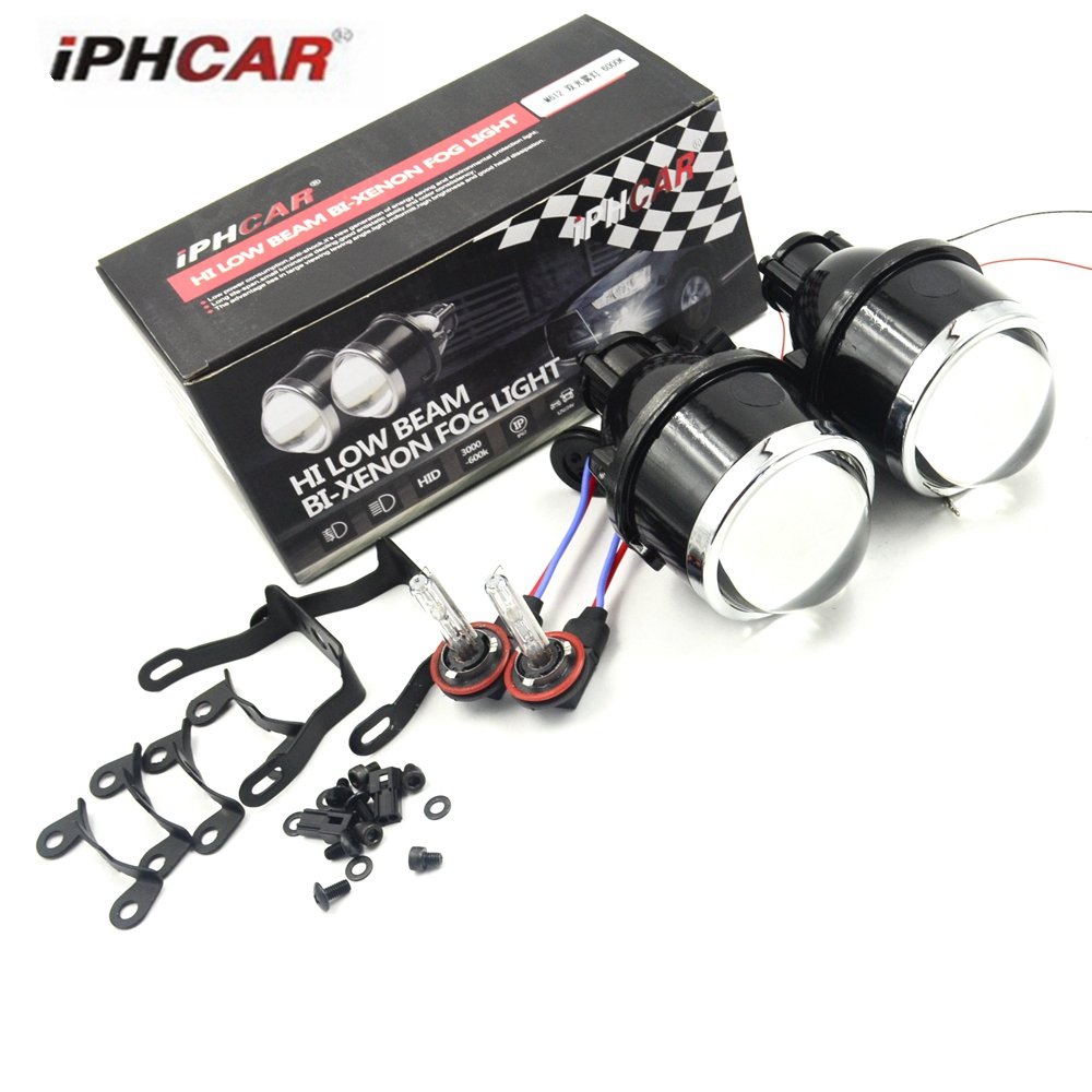 3.0 inch h11 fog bixenon hid car projector lens 2.5 inch and 3.0 inch with 6000k h11 xenon bulb retrofit dit high and low lens