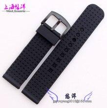 Accesorios de relojes correa de caucho de silicona reloj 22 mm negro hombres y mujeres en general