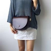 Brand Saddle Bag for Women Retro Crossbody Bags Lady Half moon Messenger Bags Semicircle Female Shoulder Handbags