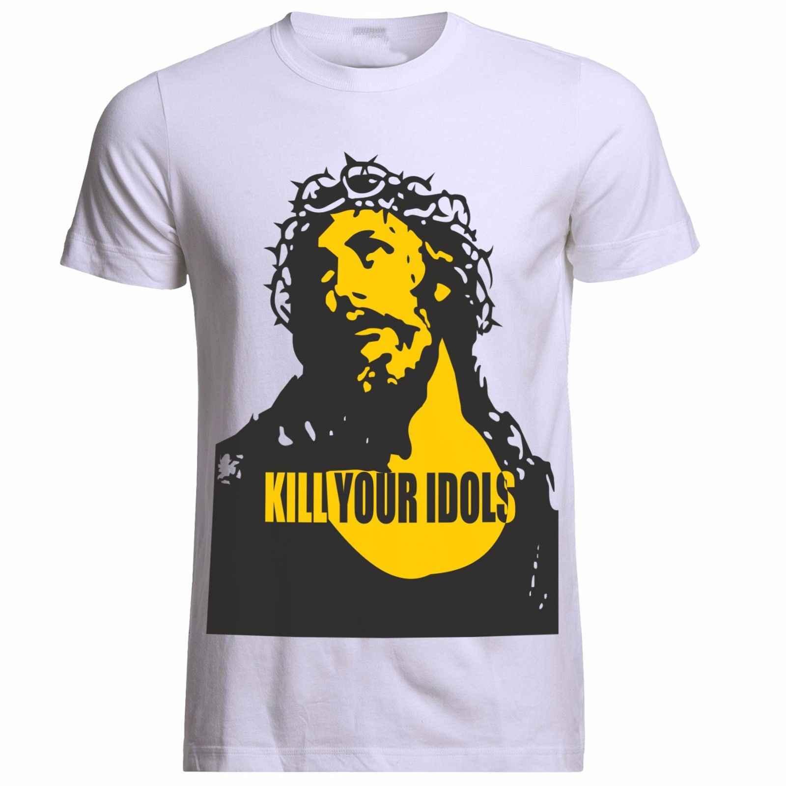 KILL YOUR IDOLS GEDRAGEN DOOR AXL ROSE GUNS N ROSES FREDDIE MERCURY TRIBUTE T-SHIRT custom gedrukt tshirt, hip hop grappige tee