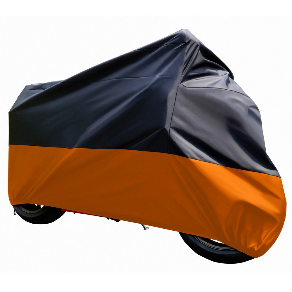 Universal Size L XL 2XL 3XL Black To Silver Motorcycle Motorbike Cover Waterproof Outdoor Uv Rain Dust Resistant Protector