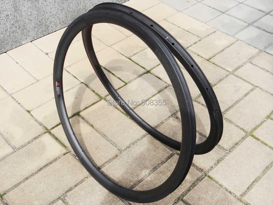 FLX-RIM-C13: 25mm largeur-3 k carbone mat vélo de route 700c pneu jante 38mm (côté frein de basalte)