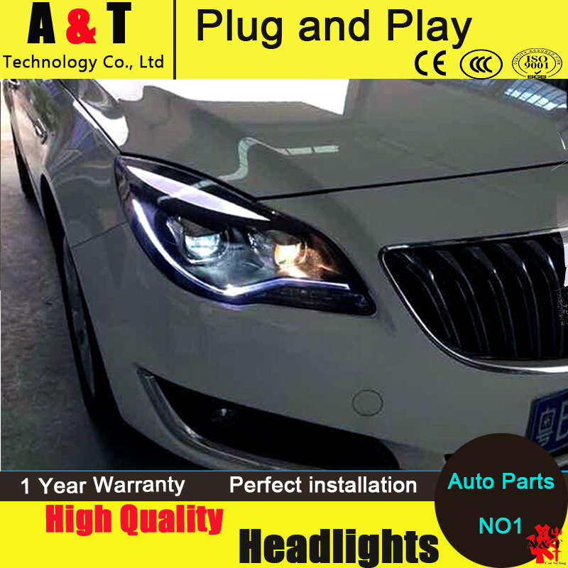 Car Styling LED Head Lamp for Opel Insignia headlight assembly 2014-2015 new arrival led drl H7 with hid kit 2 pcs.