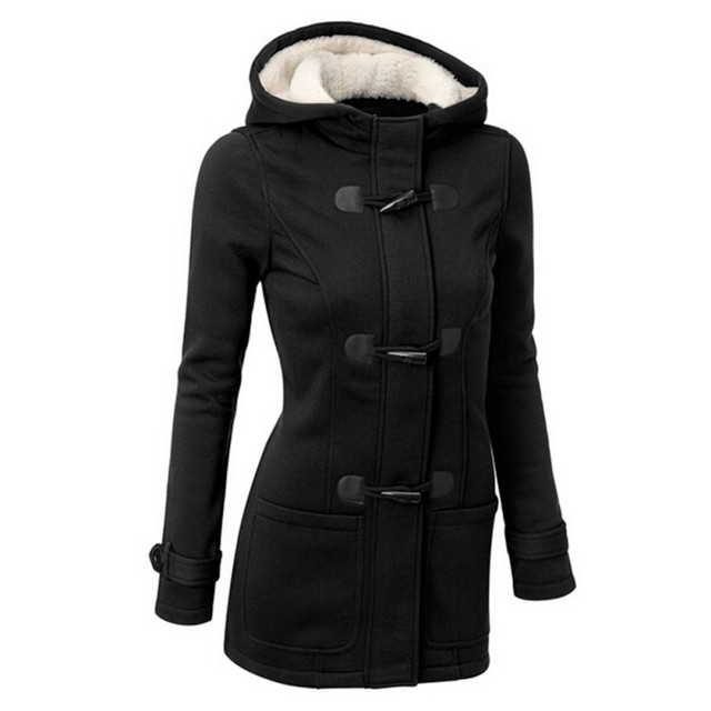 Autumn Winter Women Thick Wool Coat Hoodie Jacket Parka Trench Peacoat Double Breasted Warm Clothes 4 Colors PY1