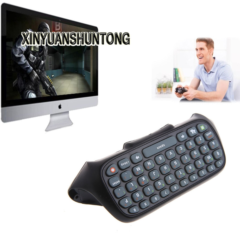 XINYUANSHUNTONG Game Accessory Black Wireless Text Messenger Keyboard Keypad For Xbox 360 Game Controller