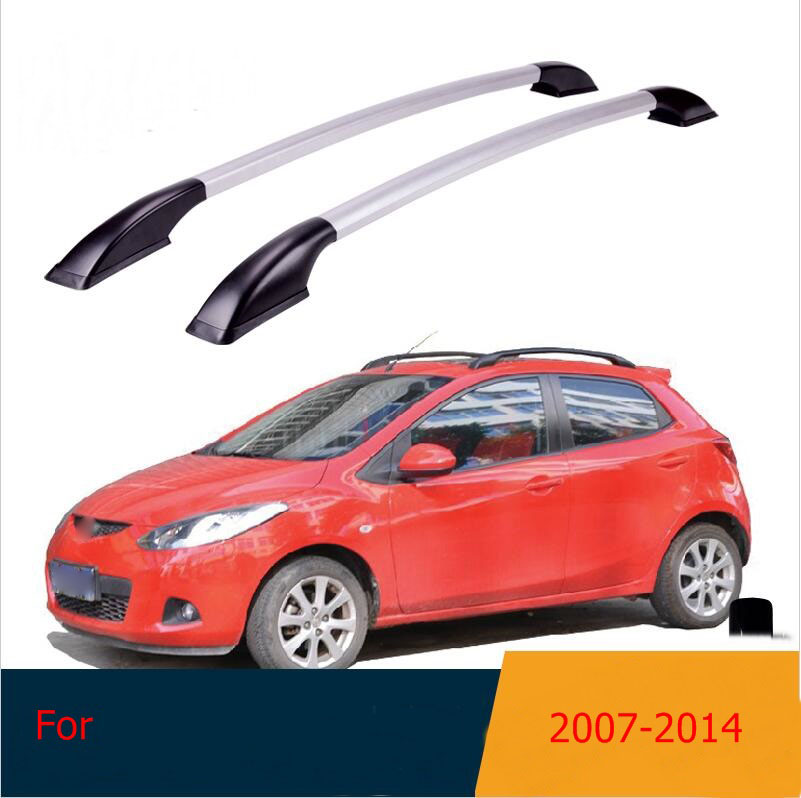 Здесь можно купить  Roof Rack Boxes Side Rails Bars Luggage Carrier A Set For Mazda 2 2007 -2014 2008 2009 2010 2011 2012 2013  Автомобили и Мотоциклы