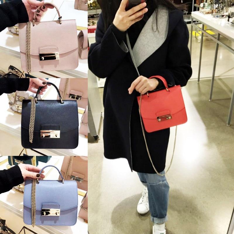 Fashion luxury Genuine leather lady bags girls chains bag Famous Brand Shoulder Bags Woman Handbags Women