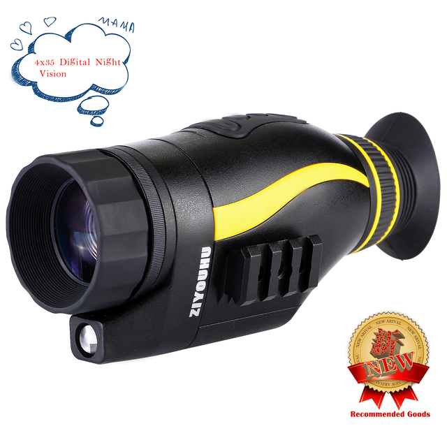 Neue HD Infrarot Digitale Nachtsicht Gerät Bild & Video Aufnahme Multi Funktion 4X35 Tag & Nacht monokulare IR Teleskop Jagd