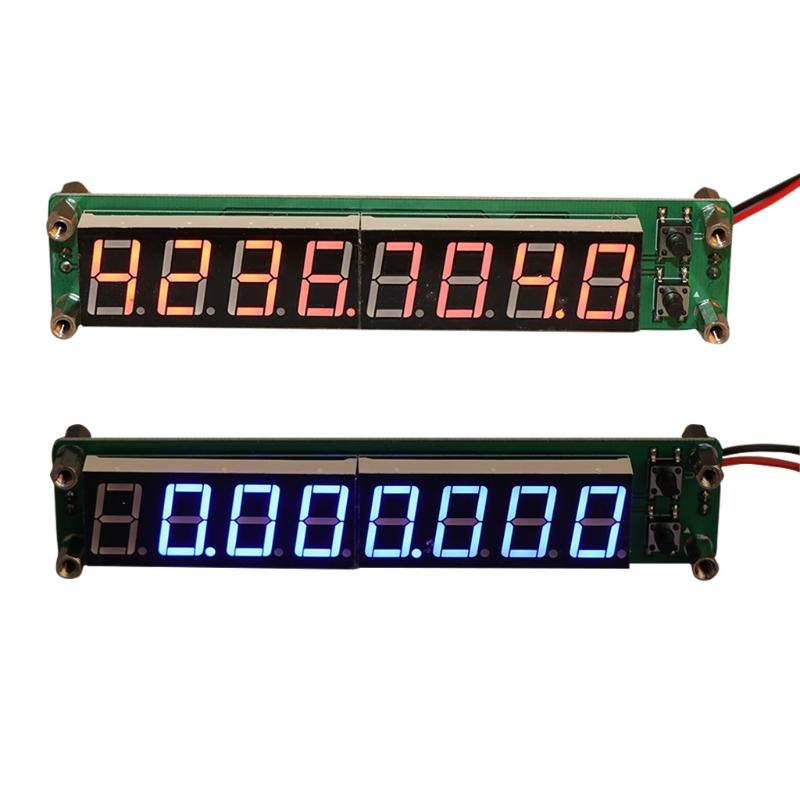 0.1-60MHz 20MHz-2.4GHz RF 8 Digit LED Singal Frequency Counter Cymometer Tester Apr