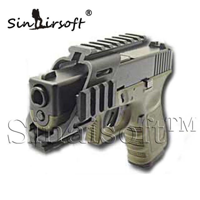SINAIRSOFT Universal Tactical Pistol Holsters Scope Sight Laser Light Mount  With Quad 7/8
