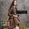 Gorgeous Sheepskin And Fur Garment Double Face Lamb Fur And Leather Skirt Jacket Classic Style Winter Fur And Skin Overcoat