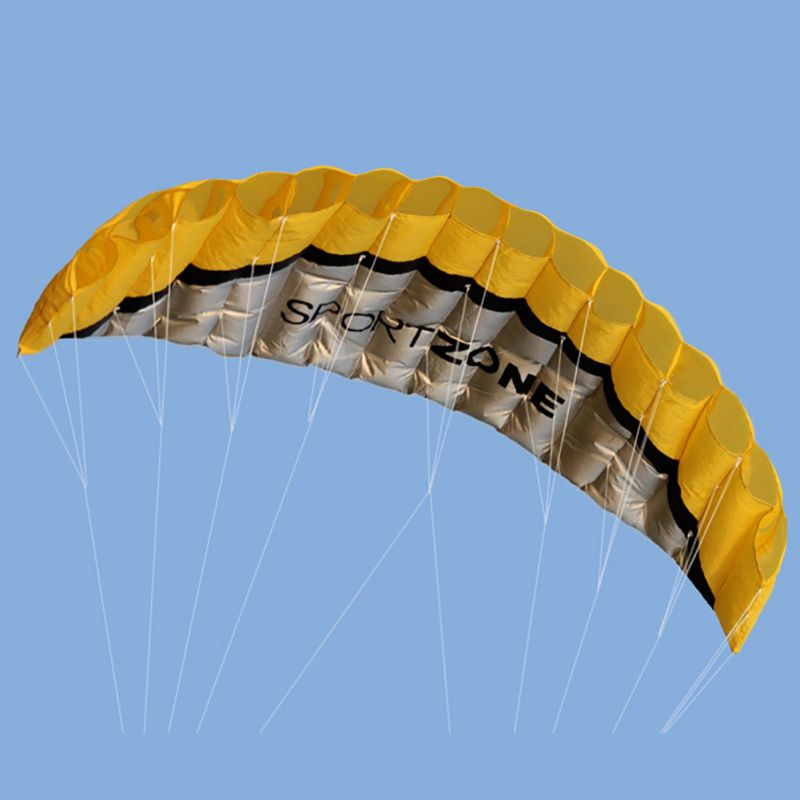 2017-Family-Playing-Power-Dual-Line-Stunt-Parachute-Rainbow-Sports-Beach-Kite-30m-Nylon-Flying-Lines-For-Beginner-2