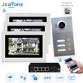 WI-FI IP телефон видео домофон Системы видео дверной звонок 7 ''Сенсорный экран для 3 этажа квартира/8 Zone Alarm поддержка смартфон