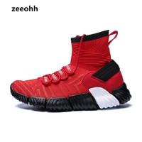 Zeeohh 남자 농구 신발 통기성 하드 착용 야외 편안한 베스트 셀러 높은 상위 메쉬 부드러운 저항 스포츠 스 니 커 즈