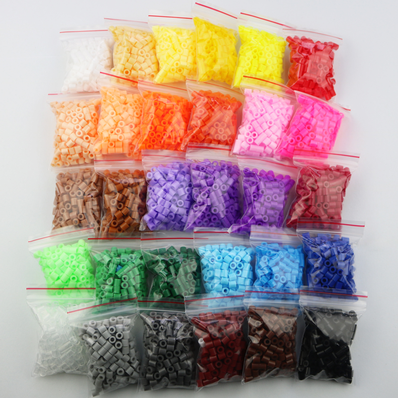 5mm Hama Beads 30 Bags A Total Of 6000pcs 30 Colors Available 100%quality Guarantee Perler PUPUKOU Fuse Toy Beads Puzzles