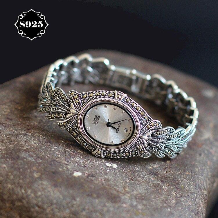 Bangle Watches Silver Bracelet Classic Elegant Edition Rhinestone Limited Thailand Process