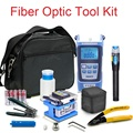 Optical Fiber Tools with Fiber Optic Power Meter and FC-6S Cleaver and Visual Fault Locator Laser Tester and Cable Strippers