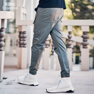 Image 3 - Enjeolon 2020 New Summer Mens Cargo Pants Men Joggers Military Casual Solid Cotton Pants Hip Hop Male Army Trousers KZ6345