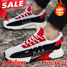 2019 New Fashion Shoes Tide Summer Breathable Mesh Sports Running Net Lace-up Trend Casual
