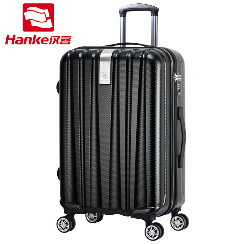 Hanke 24'' Hardside Rolling Luggage Bag Women Spinner Trolley Suitcase Men Carry-Ons Female TSA Travel Boarding Case Bag on 20inch 24 inch computer suitcase rolling luggage hardside spinner trolley bag pp material travel box boarding wheels case xl020