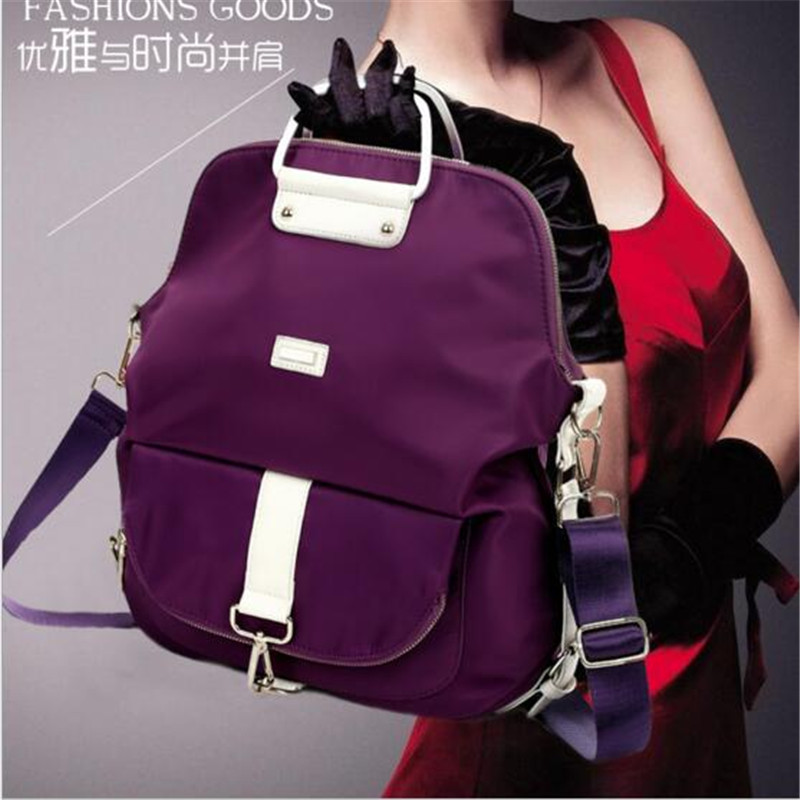 Fashion female bag multi-purpose bag nylon double shoulder bag waterproof  business laptop backpack outdoors travel packages 35l tactics nylon double shoulder bag outdoors backpack waterproof mountaineering travel bag man riding assault bac for men