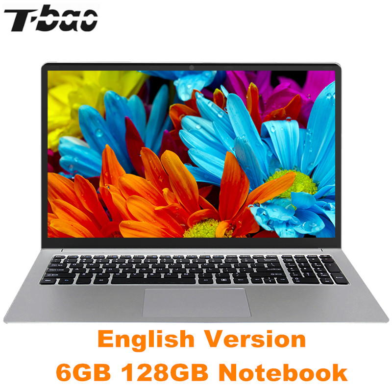T-bao Tbook R8S Laptop 15.6'' Windows 10 English Version Intel Celeron N3450 Quad Core PC 1.1GHz 6GB 128GB HDMI Notebook