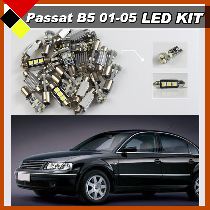 10Pcs Car LED Canbus SMD SUV Interior Lamps Kit Package Lamps Bright White  High Quality Fit For Volkswagen 2001-2005 PASSAT B5 free shipping 60 17x a4 s4 b5 1998 2001 white led lights interior package kit canbus