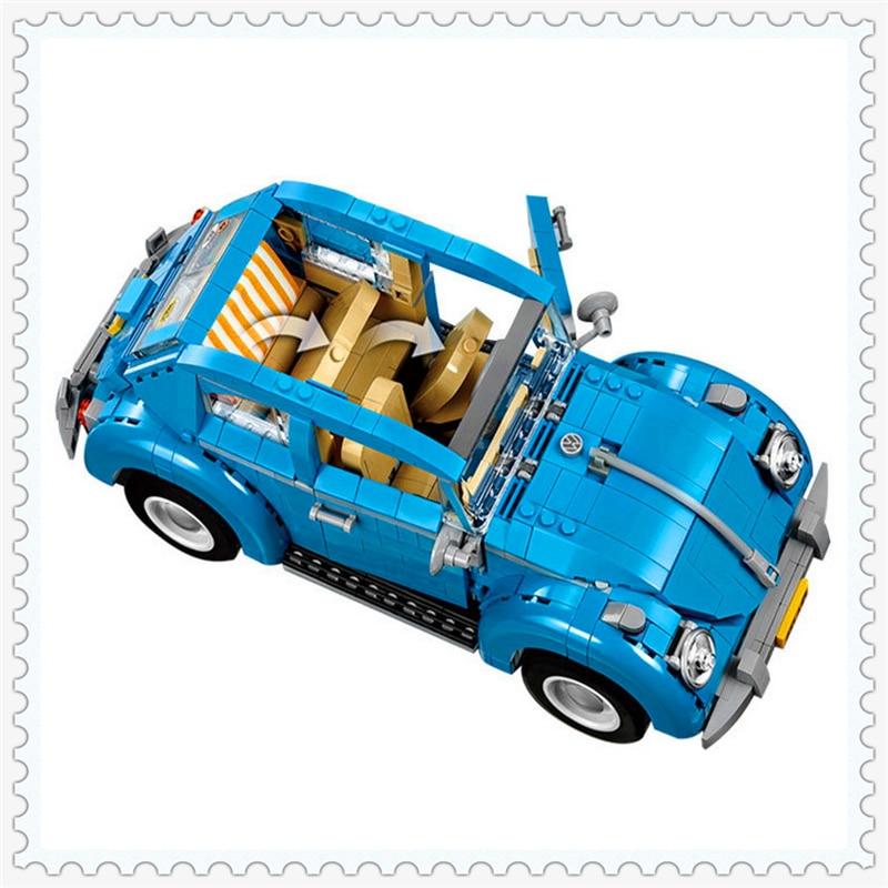 LEPIN 21003 City Street Creators Volkswagen Beetle Building Block 1193Pcs Educational  Toys For Children Compatible Legoe car usb sd aux adapter digital music changer mp3 converter for volkswagen beetle 2009 2011 fits select oem radios