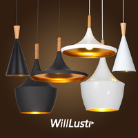 Instrument ABC Beat Light Tall Fat Wide Pendant LAMP Suspension Lighting Modern Design Lamps Black White