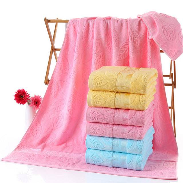 1pc 90x180cm Large Size Bath Towel Beach Towel Cotton With Bamboo