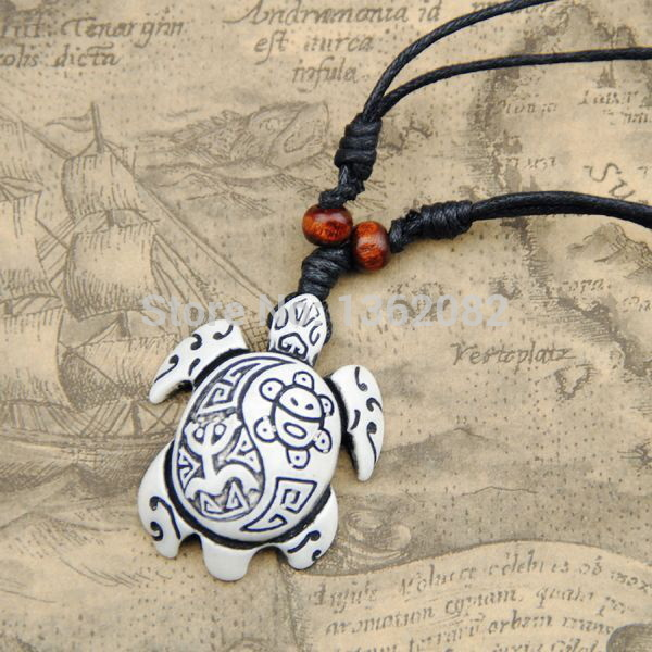 "Lovely White Simulation Bone Carved Tribal Sun Smile Frog ""Taino Coqui"" Turtle Charm Pendant Surfer Necklace Gift MN265"