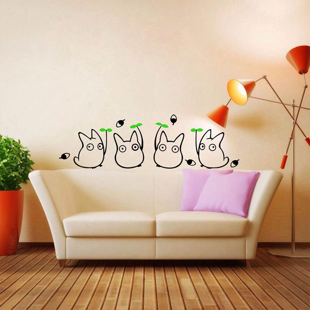totoro pared calcomanas para nios decoracin japonesa de animacin de dibujos animados de