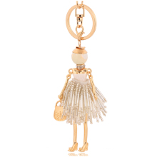 2017 crystal keychains populer jewelry white rhinestone key chains rings tassel keyring women girl jewelry