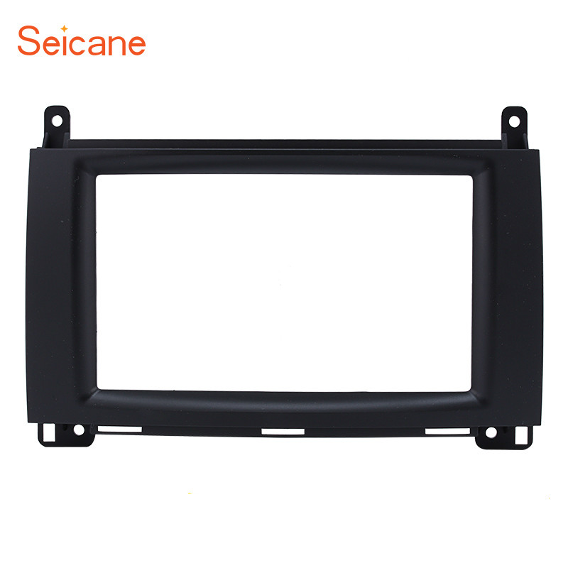 Seicane 2Din Car Radio Fascia DVD Panel Face Plate Dash Installation Frame Kit For Mercedes BENZ B200 A-Class W169 B-Class W245 цена